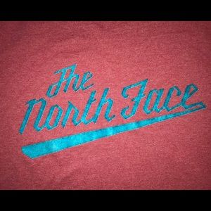 The North Face T-Shirt Sz Med Red/Blue